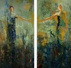 This painting is currently available! Dyptych Mixed Media 2 wood panels measuring 24 x 12 x 1.5 each $1150 Longing…wanting to be with someone so bad it hurts. Whether you're separated …