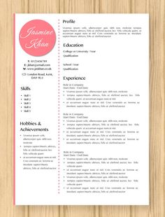 Teacher Resume Template  Resume For Teacher  Cover Letter For
