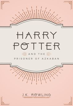 """Book cover redesign: Harry Potter meets art deco """