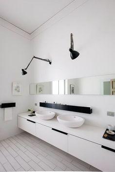 Adjustable bathroom wall lights