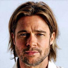 Brad Pitt rockin the long hair. Very nice #menshair #men #hair #bradpitt