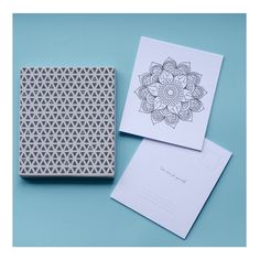 Palette - Caja de mandalas para colorear, incluye 20 postales de mandalas.