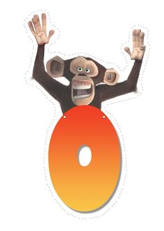 Monkey letter O letter