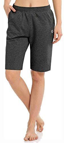 Women S Workout Lounge Bermuda Shorts Gym Yoga Athletic Running Sweat Long Shorts With Pock Shorts With Pockets Running Sweat Fit Women