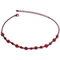 Miss Selfridge Red Beaded Choker ($17) ❤ liked on Polyvore featuring jewelry, necklaces, red, red necklace, red choker, beaded choker, beaded choker necklaces and red bead jewelry