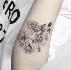 Blackwork Roses by Flower