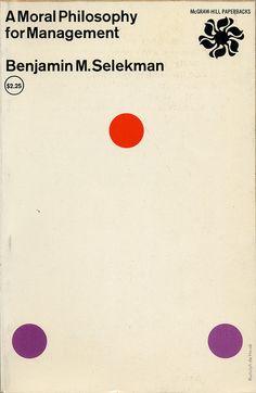Rudolph de Harak / A Moral Philosophy for Management — #Book #Paperback #Cover