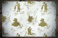 Gay and Lesbian Christmas Wrapping Paper Gift Wrap GOLD Screen Printed Victorian Gay Love & Romance Felix d'Eon