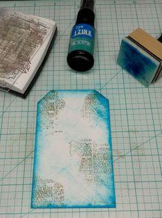 Je vous retrouve aujourd'hui pour la suite de notre série d'article consacré auxencres dye Izink.Nous allons réaliser ensemble un tag, très facile et rapide à faire. Matériel nécessai…