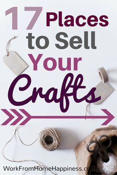 Sell crafts from home and turn your hobby into a money-making opportunity! Crafts To Make And Sell Ideas, Diy Money Making Crafts, Work From Home Crafts, Making Money From Home, Craft Ideas To Sell Handmade, Earn From Home, Craft Making, Hobbies And Crafts, Diy Business Ideas