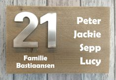Naambordje steigerhout 019 Name Signs, Mood Boards, Rvs, Names, Letters, Coaching, Projects, House Ideas, Menu