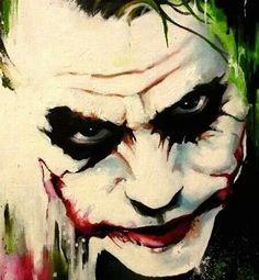 Joker abstract by sullen-skrewt on deviantART~~~~wicked Der Joker, Heath Ledger Joker, Joker Art, Joker Painting, Oil Painting Abstract, Painting Canvas, Comic Books Art, Comic Art, Tattoo Crane