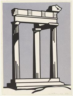Temple, Roy Lichtenstein, 1964.  Photolithograph, 60.5 x 45.1 cm - MoMA