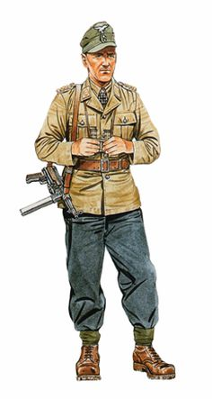 Generalmajor Meindl, Comandante de la División Meindl, Staraya Russa, 1942.