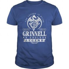 Awesome Tee The Legend Is Alive GRINNELL An Endless Legend T shirts