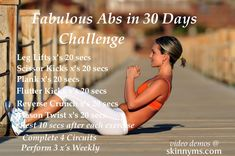 Starts Tomorrow - Show off your fabulous abs in just 30 days with our fast paced,  ab-ripping, fat burning workout.