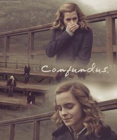 'Confundus' - Hermione Granger...I literally just read this part of book six about 5 minutes ago!