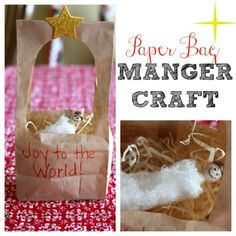 Paper Bag Manger Craft