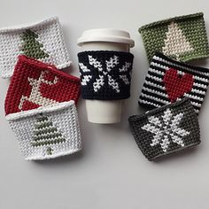 With 12 original designs plus every letter of the alphabet this crochet coffee sleeve pattern will help you create endless gifts for friends & family. Crochet your husband's initials on his coffee jacket or maybe an anchor on a cold summer beverage sleeve for a friend. The possibilities are endless with this twist on tapestry crochet.