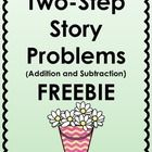 This product is a set of four two-step story problems which require students to use addition and subtraction.  I hope you find it useful.  Please l...