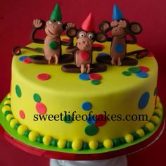 Three wise monkeys cake :)