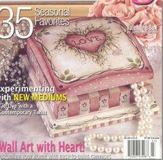 caixa romântica pintada em pintura country,Moldes Country, Pintura Country, Riscos Country, desenhos Country