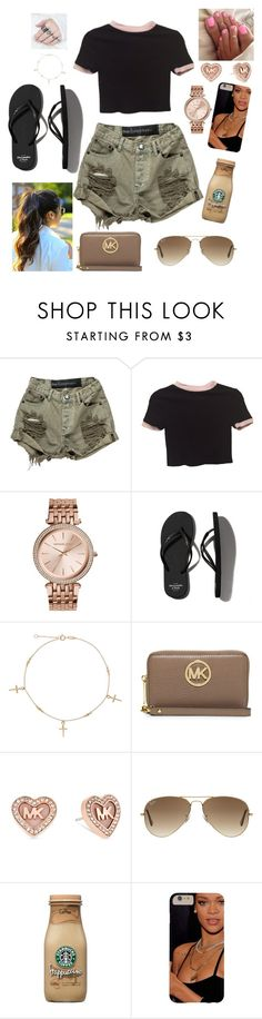"""""""Untitled #972"""" by nickeyg ❤ liked on Polyvore featuring OneTeaspoon, Brandy Melville, MICHAEL Michael Kors, Abercrombie & Fitch, Michael Kors and Ray-Ban"""