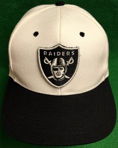 Oakland Raiders Adjustable Snapback Cap by CoryCranksOutHats on Etsy