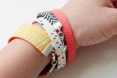 MAKE | How-To: Fabric Bracelets