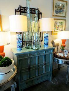 Lamps! I like the orange ones.