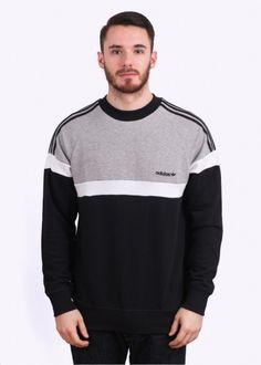 Adidas Originals Apparel Itasca Crew Sweatshirt - Black