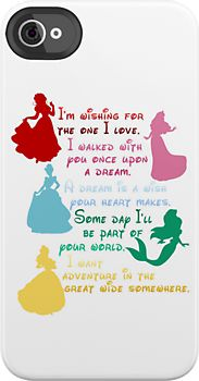 Don't care for the phone case, but LOVE the way each princess's song fits with the next!
