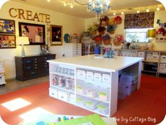 OMG....YES Please @Brianna Edsall  IHeart Organizing: Reader Space: Amanda's Organized Craft Studio