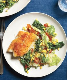 Cajun Fish With Cabbage and Bacon Sauté Serve this spicy white fish with crisp bacon and a colorful side of veggies. Cajun Recipes, Fish Recipes, Seafood Recipes, Paleo Recipes, Dinner Recipes, Cooking Recipes, Simple Recipes, Recipies, Cajun Food