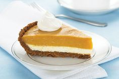 Did Cinderella have it all wrong? This Double-Layer Pumpkin Pie proves the pumpkin is better than the prince! Enjoy this creamy Double-Layer Pumpkin Pie.