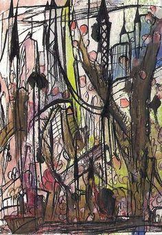 No 6019 ACEO Art Cards Editions & Originals ATC EBSQ by NoRaHzArT #Expressionism