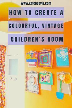 A colourful, vintage children's room - Kate Beavis Vintage Expert Vintage Boys, Vintage Children, Ikea Units, Teenage Room, Yellow Painting, Playrooms, Kidsroom, Vintage Colors, Boy Room
