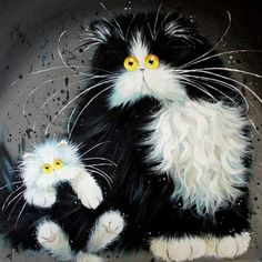 Cats by Kim Haskins artist