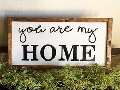 You are my home| You are my home sign| Farmhouse| Farmhouse Decor| Farmhouse home sign| Farmhouse Sign| Rustic Wood Sign| Rustic home decor by SweetGypsyDecor on Etsy