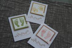 Baby  Geburt - Babykarte ... Glückwunschkarte Geburt Taufe - ein Designerstück von Stempelzauber bei DaWanda