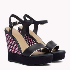 Woven Wedge Heel Sandals | Tommy Hilfiger | Official Website