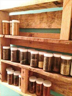 diy spice rack ideas   upcycled pallet kitchen spice rack