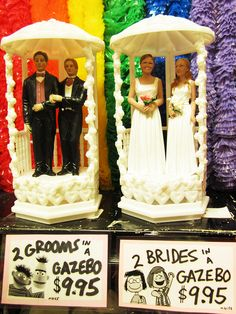 Wedding Cake Toppers for EVERYONE at Archie McPhee Seattle.