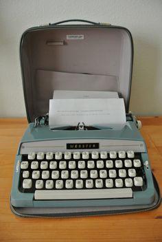 Vintage Webster Portable Manual Typewriter by DomesticTitanVintage