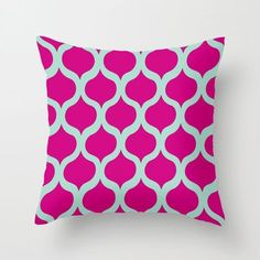 Safi Sunrise Pillow Cover in Magenta ❤ liked on Polyvore featuring home, home decor, throw pillows, patterned throw pillows, magenta throw pillow and magenta home decor