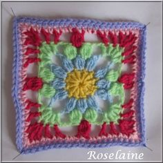 "This square has a lot of texture ""3D Granny Square by Simply Crochet"""