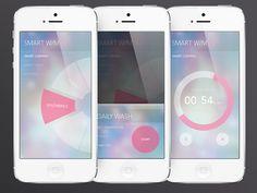 Smart washer app UI by Hyelim Choi