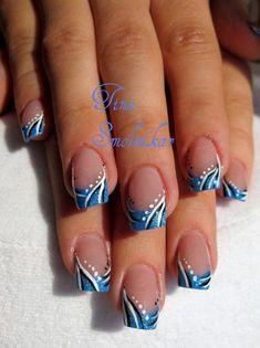 Nails French Tip Color Art Tutorials 51 Ideas Break nails french Spring Break nails to do on spring break ideas French Tip Nail Designs, French Tip Nails, Toe Nail Designs, Acrylic Nail Designs, Nails Design, Fancy Nails, Diy Nails, Nagellack Design, Broken Nails