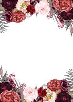Pretty Backgrounds, Flower Backgrounds, Rose Frame, Flower Frame, Floral Wedding Invitations, Flower Invitation, Simple Background Images, Flower Graphic Design, Poster Background Design