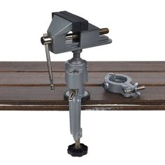 Heavy Duty Universal Table Vise with Drill Clamp Dremel, Merci Boutique, Drill Holder, Bench Vise, Metal Working Tools, Rotary Tool, Diy Supplies, Support, Clamp